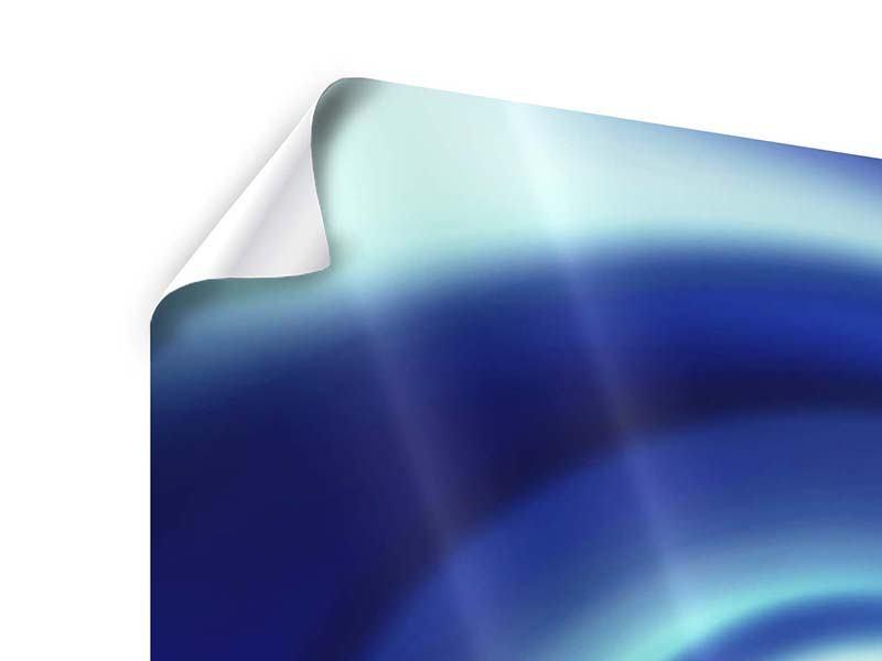 Poster 4-teilig Abstrakte Blaue Wirbel