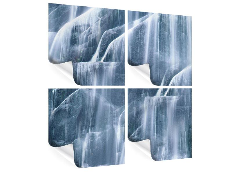 Poster 4-teilig Waterfall
