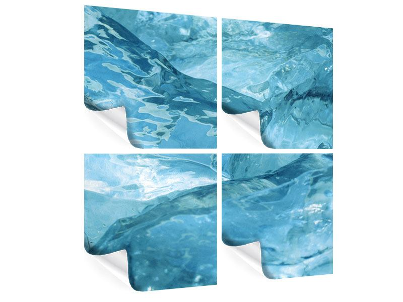 Poster 4-teilig Cooler Eislook