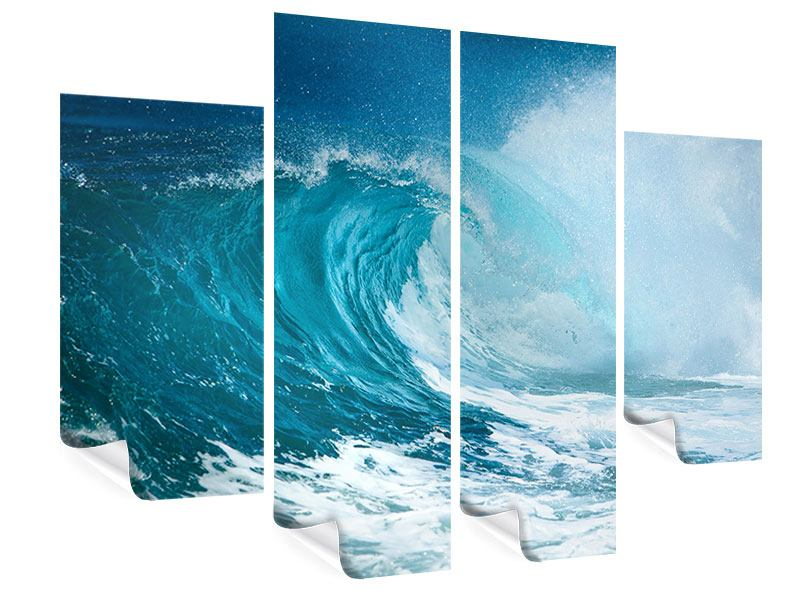 Poster 4-teilig Die perfekte Welle