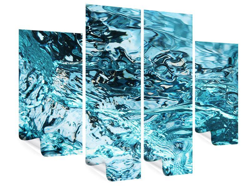 Poster 4-teilig Schönheit Wasser