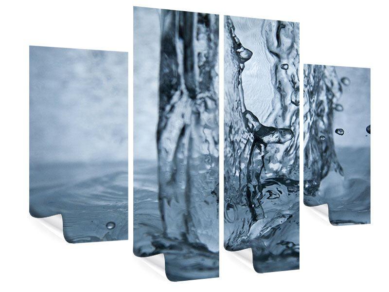 Poster 4-teilig Wasserdynamik