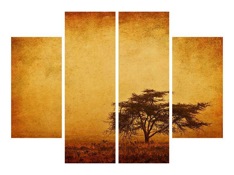 Poster 4-teilig Sonnenuntergangsstimmung