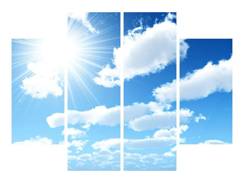 Poster 4-teilig Am Himmel
