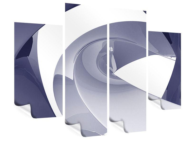 Poster 4-teilig Abstrakte Schwingungen