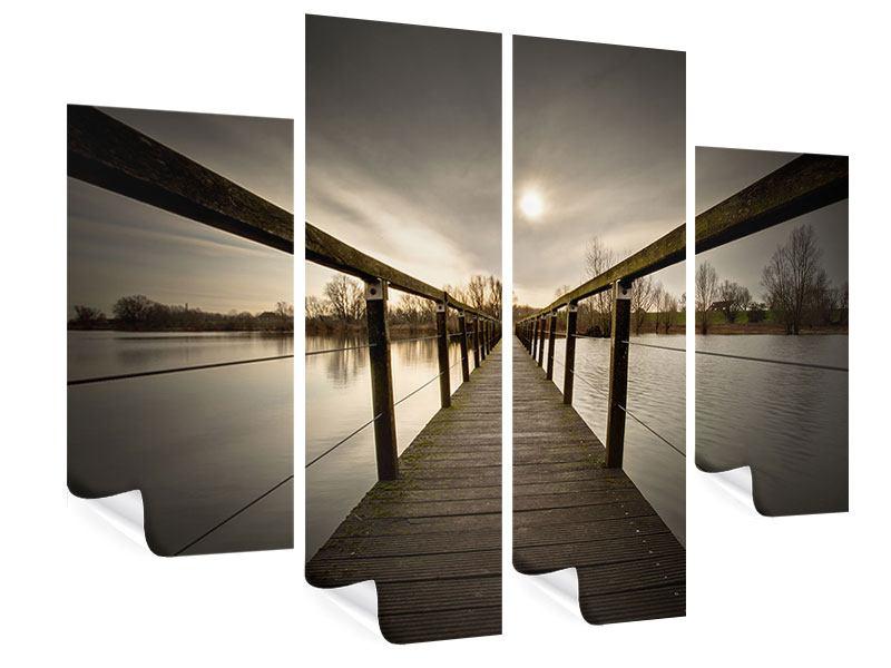 Poster 4-teilig Die Holzbrücke