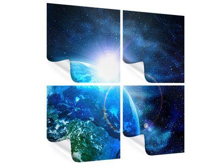 Poster 4-teilig Galaxien