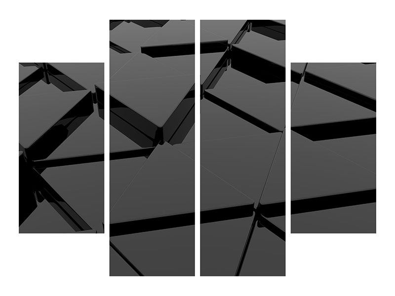 Poster 4-teilig 3D-Dreiecksflächen