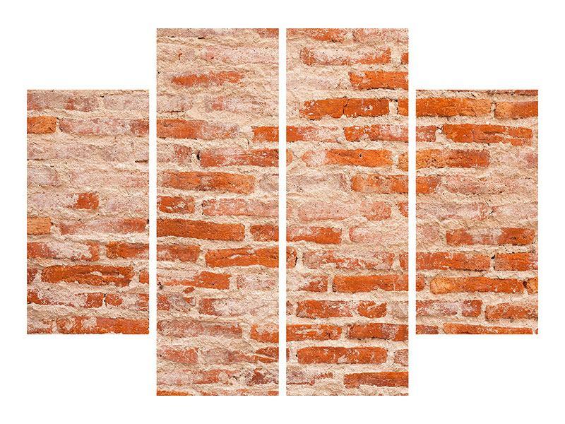 Poster 4-teilig Mauerwerk