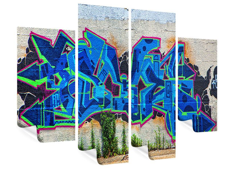 Poster 4-teilig Graffiti NYC