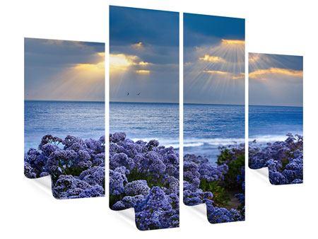 Poster 4-teilig Der Lavendel und das Meer