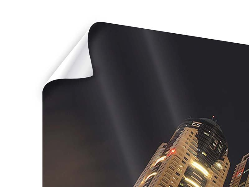 Poster 4-teilig Wolkenkratzer Dubai Marina