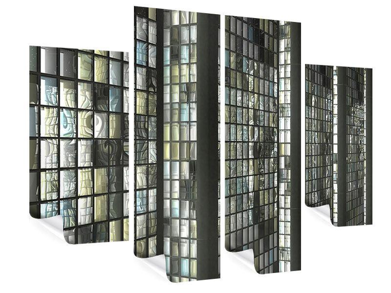 Poster 4-teilig Windows
