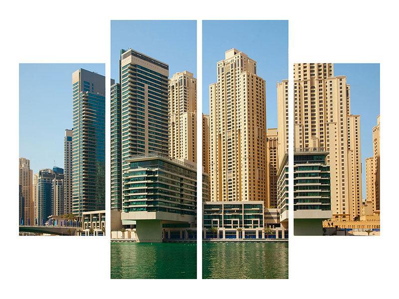Poster 4-teilig Spektakuläre Wolkenkratzer Dubai