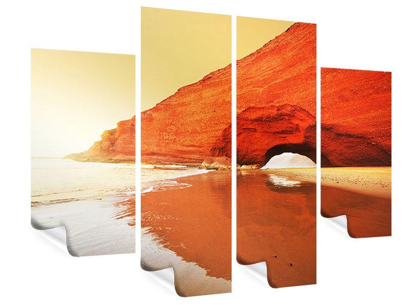 Poster 4-teilig Wasserspiegelung