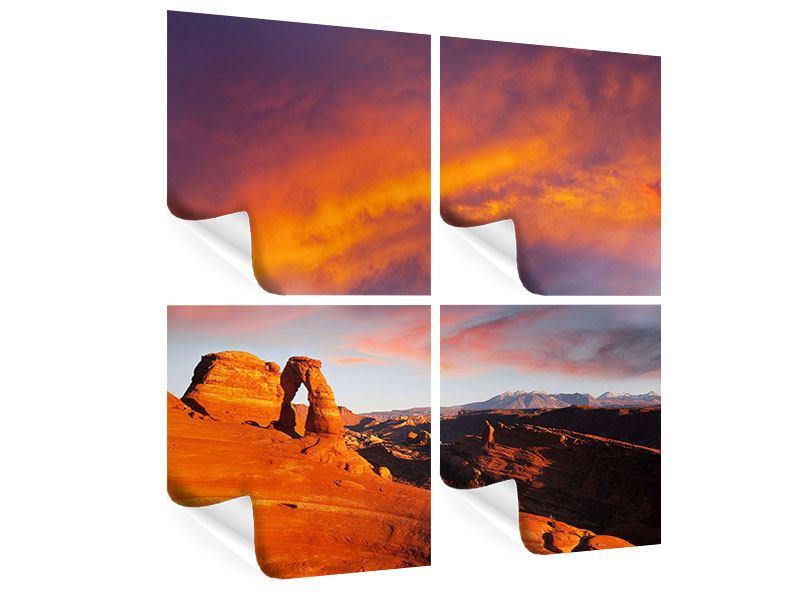 Poster 4-teilig Sonnenuntergang im Canon