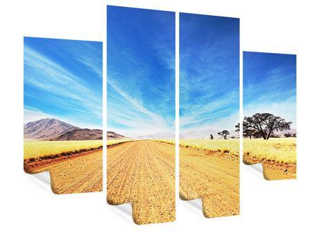 Poster 4-teilig Eine Landschaft in Afrika