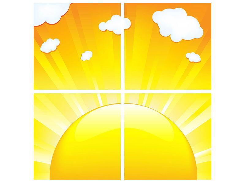 Poster 4-teilig Die Sonne geht auf