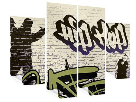 Poster 4-teilig Graffiti Hip Hop