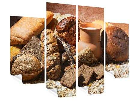 Poster 4-teilig Frühstücksbrote
