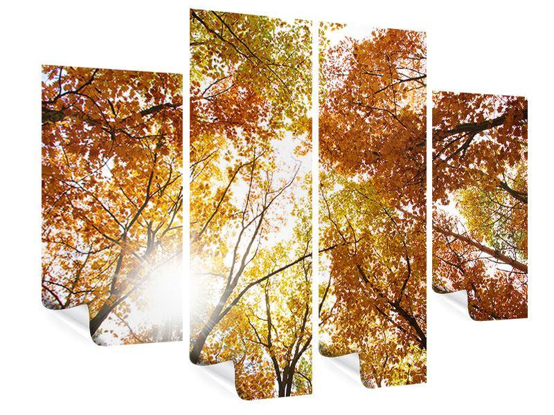 Poster 4-teilig Herbstbäume