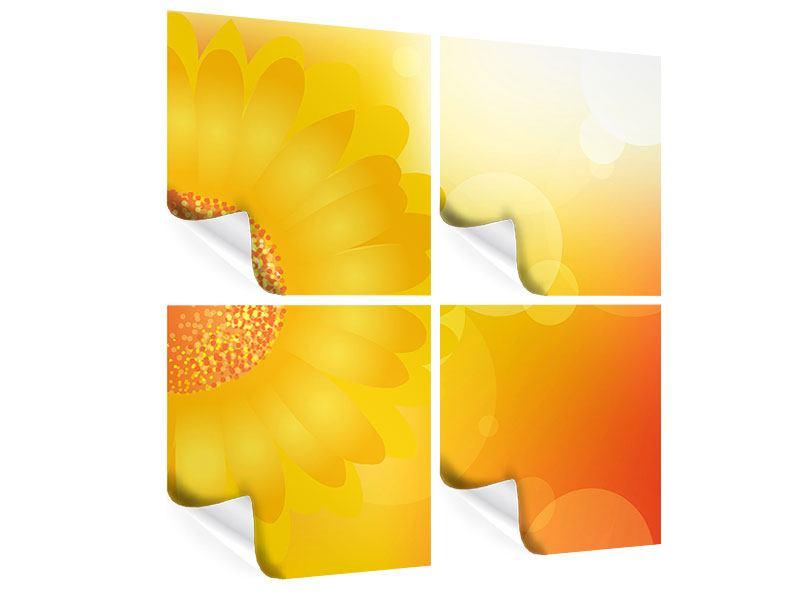 Poster 4-teilig Sunflower Power