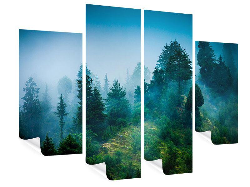Poster 4-teilig Geheimnisvoller Wald