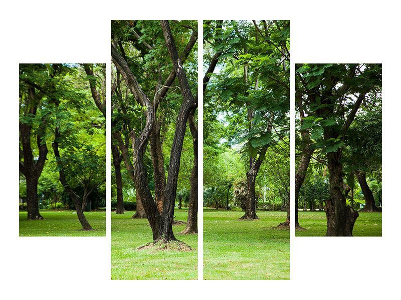 Poster 4-teilig Kirschbaum-Garten