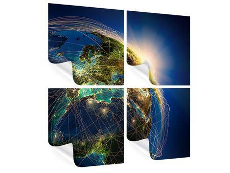 Poster 4-teilig Der Planet Erde