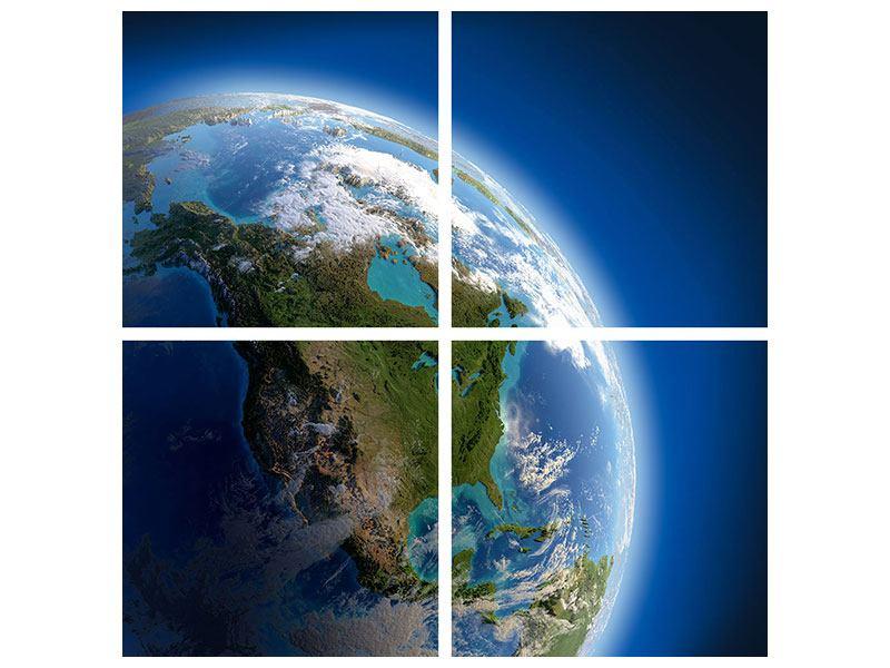 Poster 4-teilig Die Erde