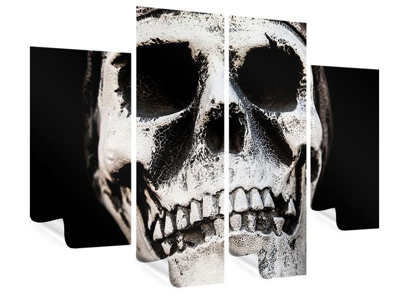 Poster 4-teilig Skull