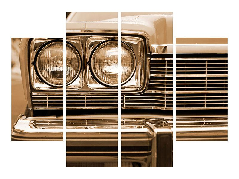 Poster 4-teilig Oldtimer Close up