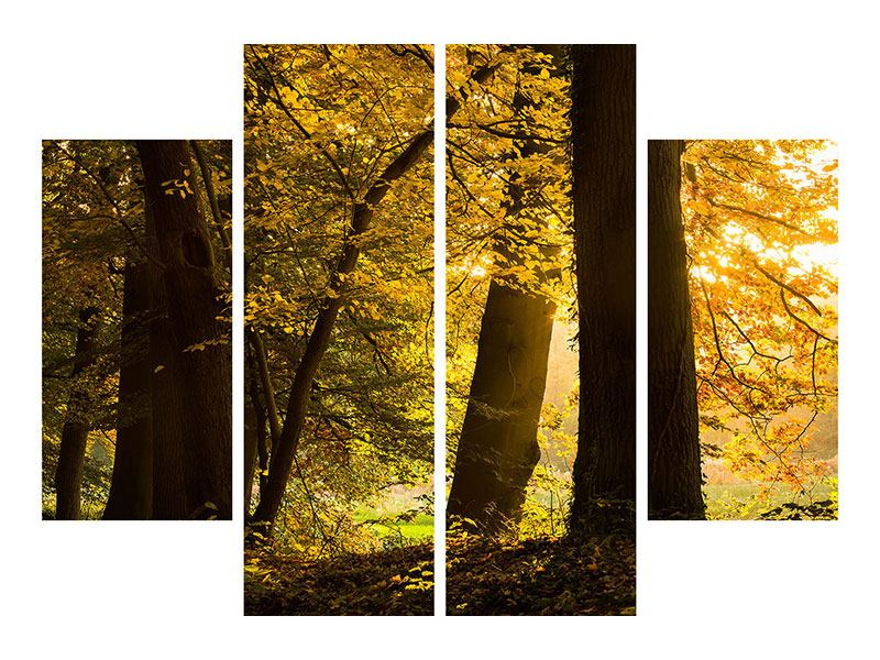 Poster 4-teilig Herbstlaub