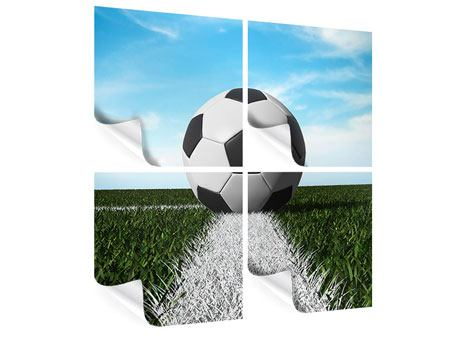 Poster 4-teilig Der Fussball