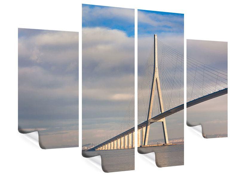 Poster 4-teilig Pont de Normandie