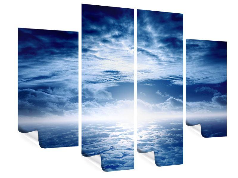Poster 4-teilig Mystischer Himmel