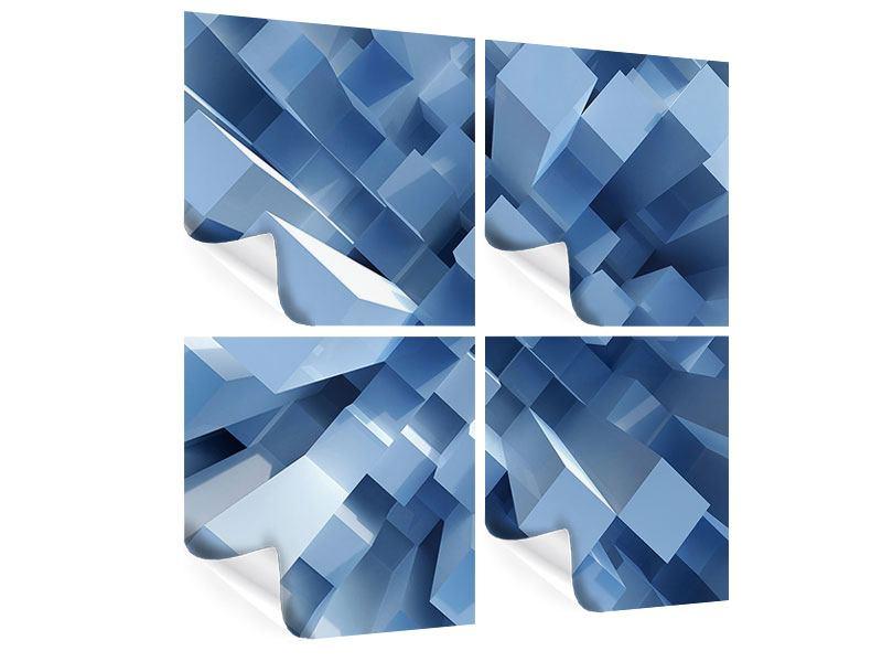 Poster 4-teilig 3D-Säulen