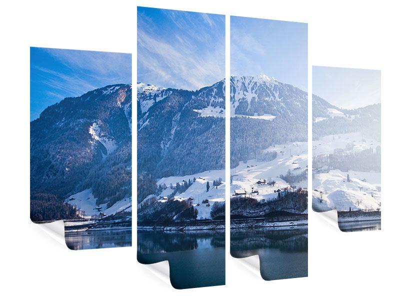 Poster 4-teilig Winterwunderland