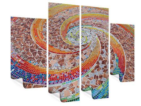 Poster 4-teilig Mosaik
