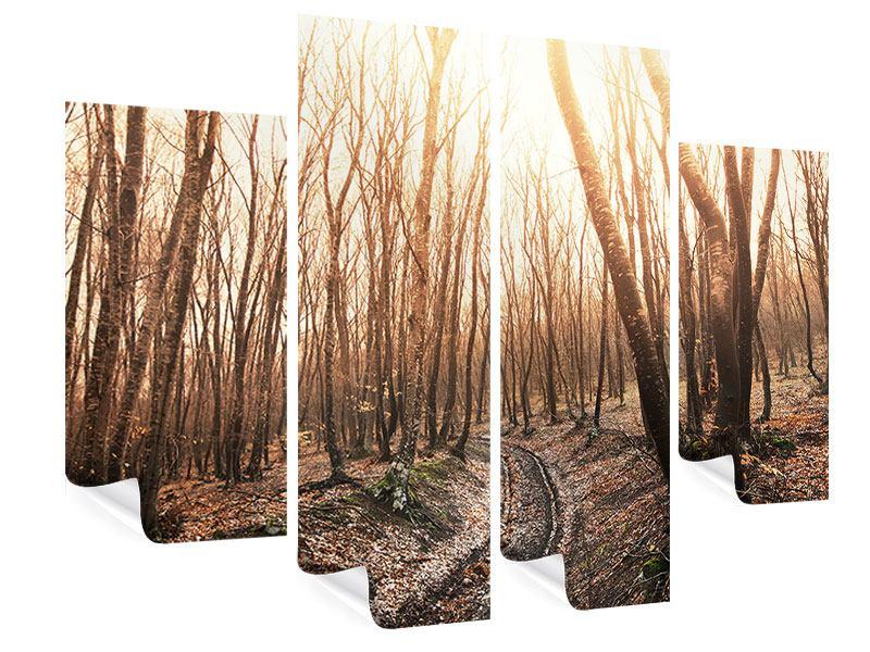 Poster 4-teilig Der kahle Wald