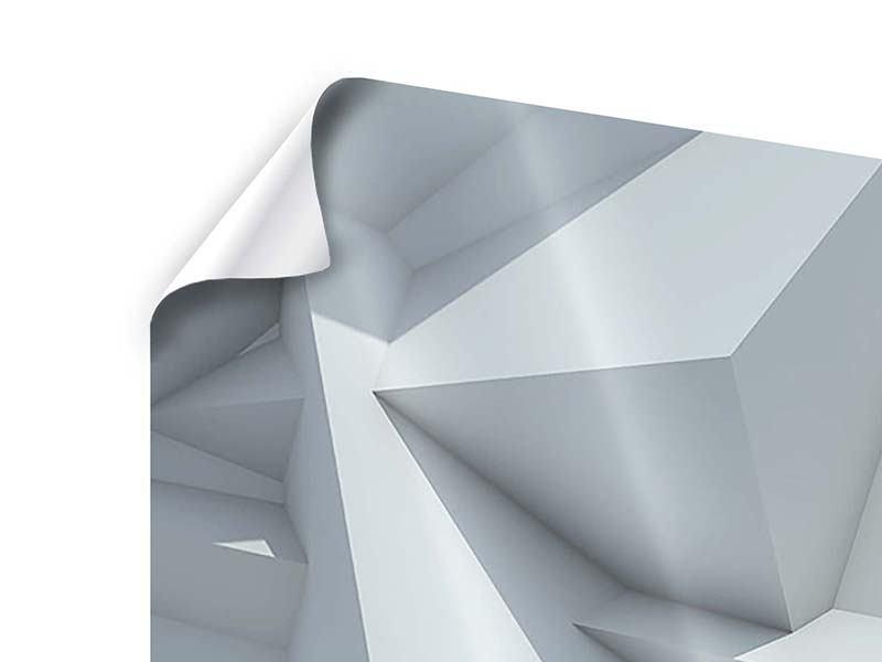 Poster 4-teilig 3D-Kristallo