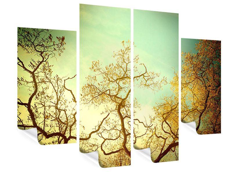 Poster 4-teilig Bäume im Herbst