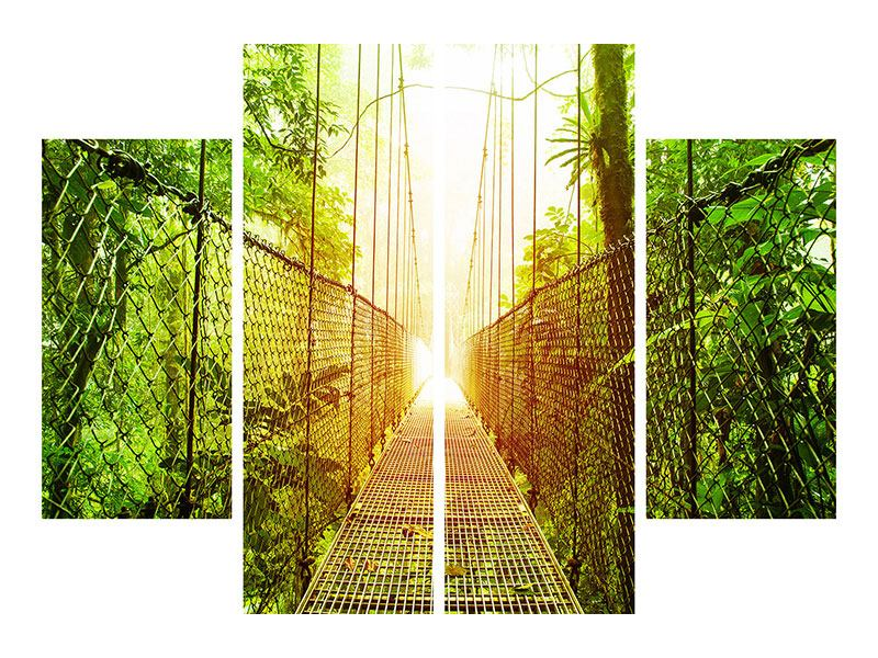 Poster 4-teilig Hängebrücke