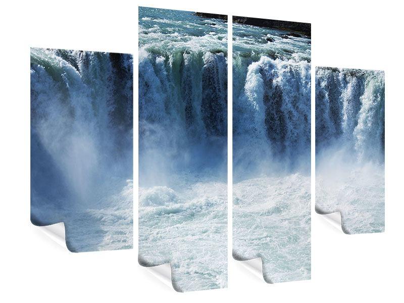 Poster 4-teilig Mächtiger Wasserfall