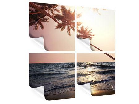Poster 4-teilig Am Meer