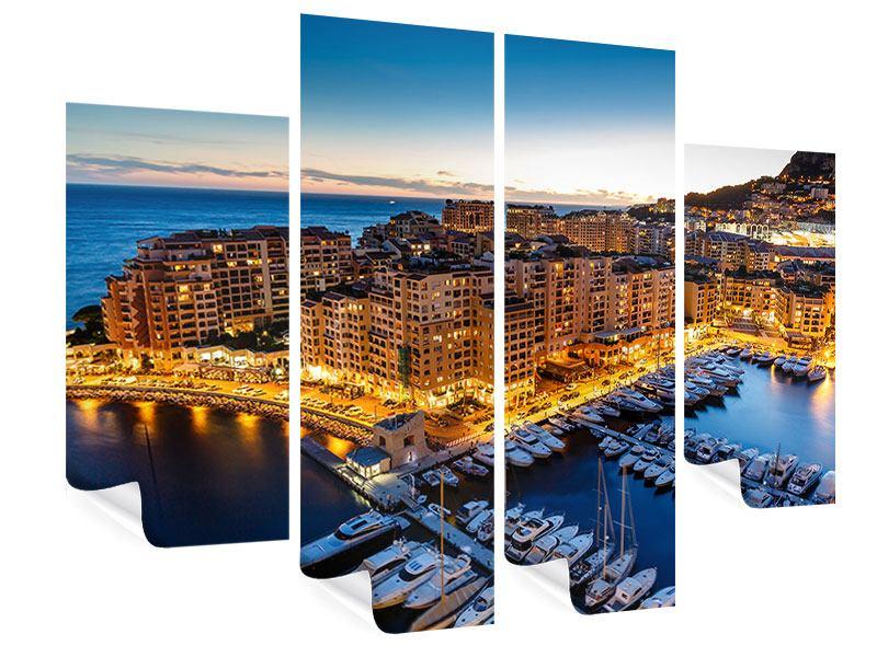 Poster 4-teilig Monaco