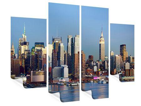 Poster 4-teilig Skyline Midtown Manhattan