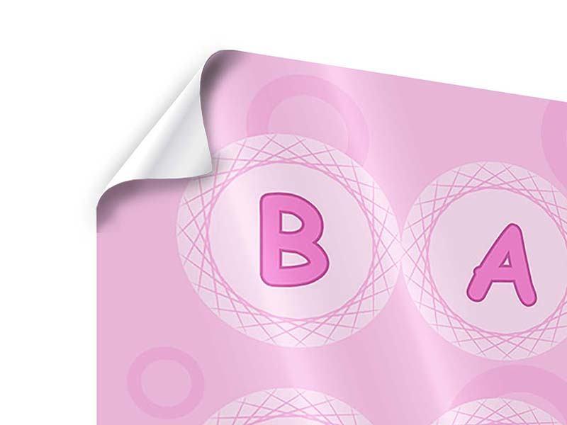 Poster 4-teilig Baby-Girl