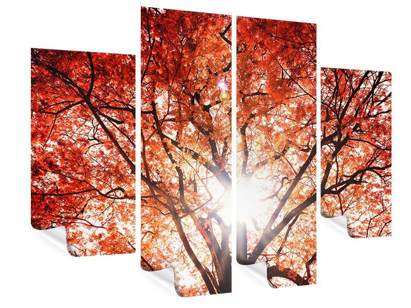 Poster 4-teilig Herbstlicht