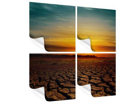 Poster 4-teilig Afrikas Dürre